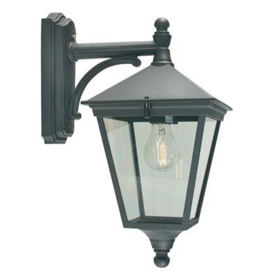 Black Down Wall Lantern - 1 x 100W E27