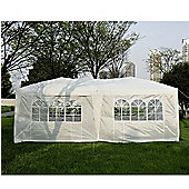 Outsunny 6 x 3 m Garden Gazebo Waterproof + Carrying Bag (White)