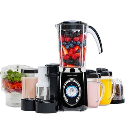 Andrew James 5 in 1 Smoothie Maker With Mini Chopper in Black