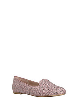 F&F Sensitive Sole Studded Woven Albert Shoes - Pink