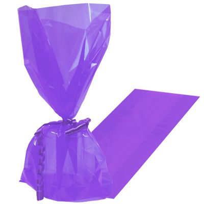 Party Bags New Purple Cello Bags - 25 pack