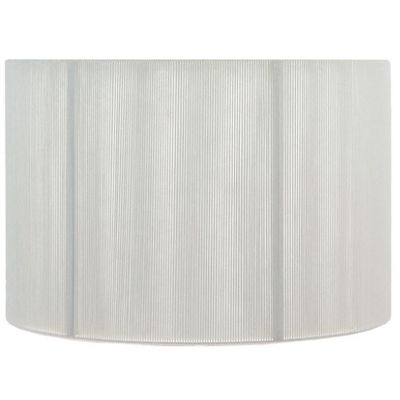 25cm Ivory Silky String Drum Shimmer Lamp Shade Modern Style