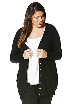 Simply Be Boyfriend Cardigan - Black