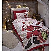 Catherine Lansfield Retro Santa Christmas Duvet Cover Set - Double