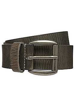 F&F Distressed Leather Belt - Grey