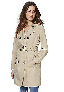 Vila Belted Trench Coat - Stone