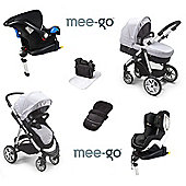 Mee-go Pramette Isofix Travel System + 2nd Stage Car Seat - Grey