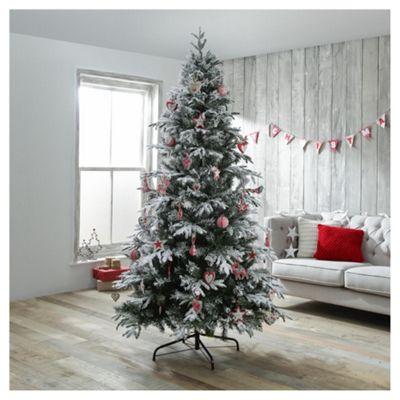 Buy Dobbies Keilder Snowy Spruce Christmas Tree, 7ft from ...