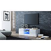 Turin LED Light TV Unit - White