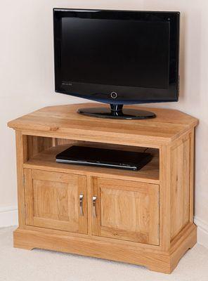 Aspen Solid Oak Corner Tv Unit Cabinet