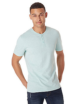 F&F Grandad Collar T-Shirt with As New Technology - Mint