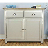 Wellington Painted Oak Sideboard / Grey Small Sideboard with Solid Oak Top