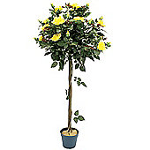 De Vielle 4ft Yellow Artificial Rose Tree