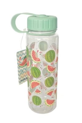 Puckator Plastic Water Bottle Tropical Fruits