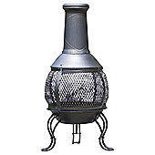 Bronze effect steel chimenea