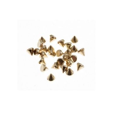 Impex Gold Sew On Studs 6 x 6mm 120pk