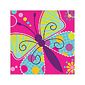 Butterfly Sparkle Beverage Napkins - 2ply Paper - 16  Pack