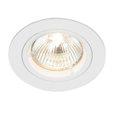 Cast Fixed 50W Recessed Downlight Gloss White Paint