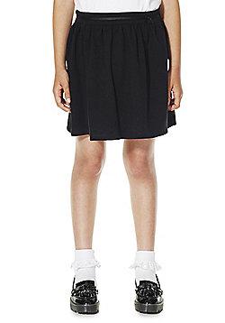 F&F School Girls Jersey Bow Skirt - Black
