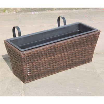 Hand Woven Rattan Window Basket - Medium