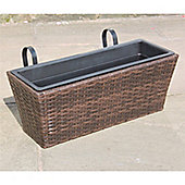 Hand Woven Rattan Window Basket - Medium
