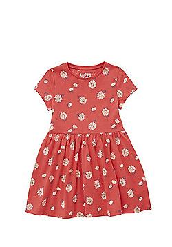 F&F Daisy Print Skater Dress - Pink
