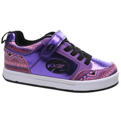 Heelys X2 Thunder - Purple/Multi/Print - Size - UK 3