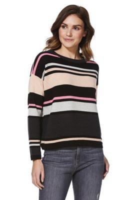 JDY Ottoman Stripe Jumper Pink Multi M