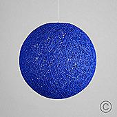 Bjorn 30cm Rattan Ball Ceiling Light Pendant Shade, Blue