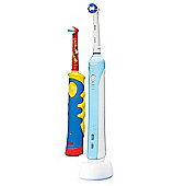 Oral-B PC500 Adult & Kids Mickey Mouse Family Edition Bundle