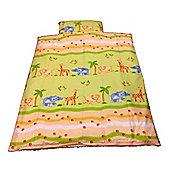 Cot Bed Duvet Cover Set 100% Cotton - Safari