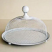 Celebrate - Wire Mesh Round Cake Plate With Dome Cover - Grey