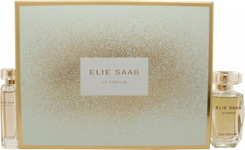 Elie Saab Le Parfum Rose Couture Gift Set 50ml EDT + 10ml EDT For Women
