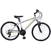 "Ammaco Denver Front Suspension 24"" Wheel Bike Grey"