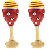 Bigjigs Toys Junior Maracas (One Pair - Red)