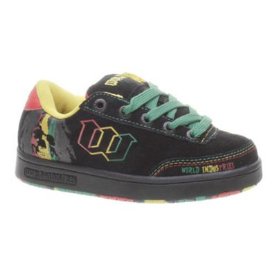 World Industries Basic SE Rasta Black Kids Shoe