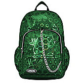 Chok Holographic 3D Green Backpack