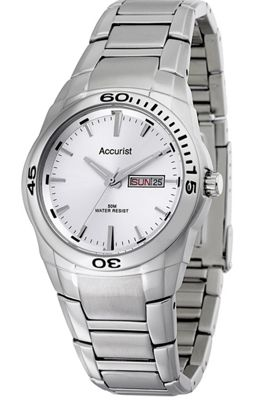 Accurist Gents Silver Tone Bracelet Watch MB639S