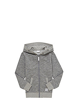 F&F Marl Zip-Through Hoodie - Grey