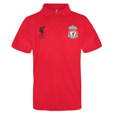 Liverpool FC Boys Polo Shirt Red 8-9 Years MB