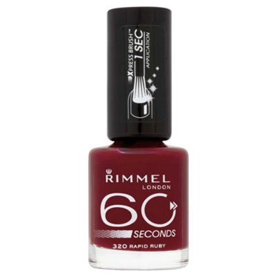 Rimmel 60 Seconds Nail Polish Rapid Ruby
