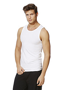 F&F 2 Pack of Premium Vests with As New Technology - White