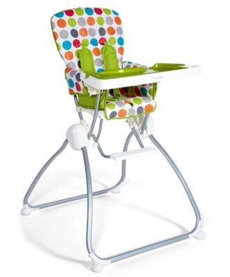 Mamas & Papas - Rio Folding Highchair - Rainbow Spot