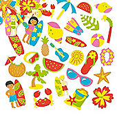 Beach Foam Stickers for Kid's Collage & Card Craft Decorating (Pack of 120)