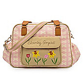 Pink Lining Blooming Gorgeous Changing Bag (Pink and Cream Bows)