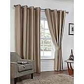 Hamilton McBride Faux Silk Eyelet Blackout Cappuccino Curtains - 90x90 Inches (229x229cm)