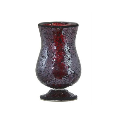 Red Sparkle Mosaic Tealight Goblet