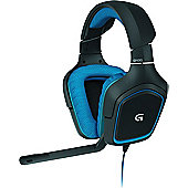 Logitech G430 Binaural Head-band Black Blue headset Surround Sound Gaming
