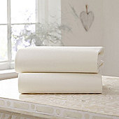 Clair de Lune Fitted Cotton Interlock Sheets - Cot (Cream)