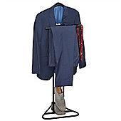 Black Metal Suit / Dress / Clothes Valet Stand